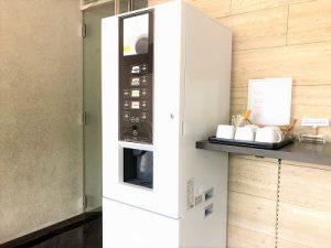 ロビーでの無料コーヒー&お茶サービス
