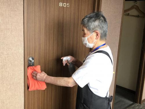 ★新型コロナ予防対策:客室やロビー等の定期的な消毒清掃を含む衛生強化