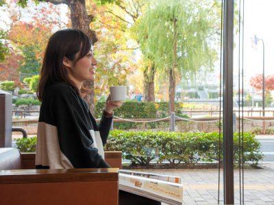 無料コーヒー&お茶サービス(1Fロビーにて)